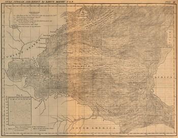 Carte du Gulf-Stream datant de 1858