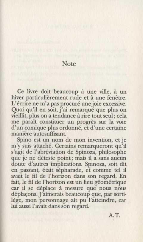 Le fil de l'¢horizon, Antonio Tabucchi